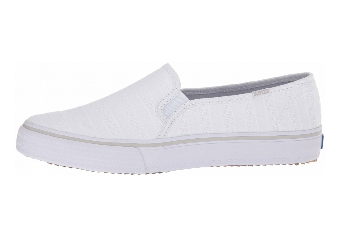 Keds Double Decker Eyelet Stripe White