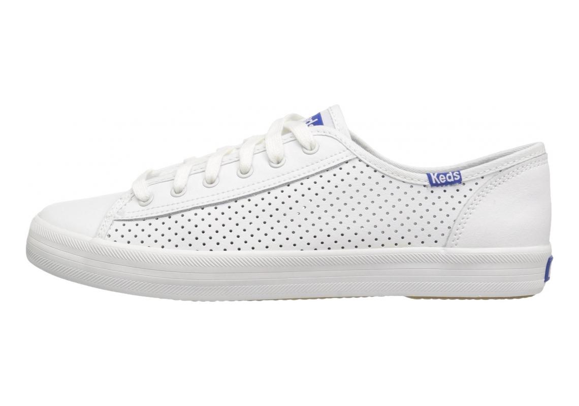 Keds Kickstart Perf Leather White/Blue