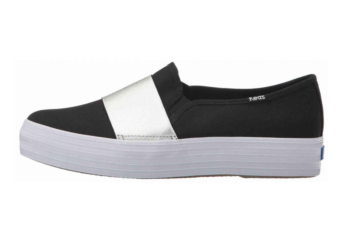 Keds Triple Bandeau Canvas Black/Silver