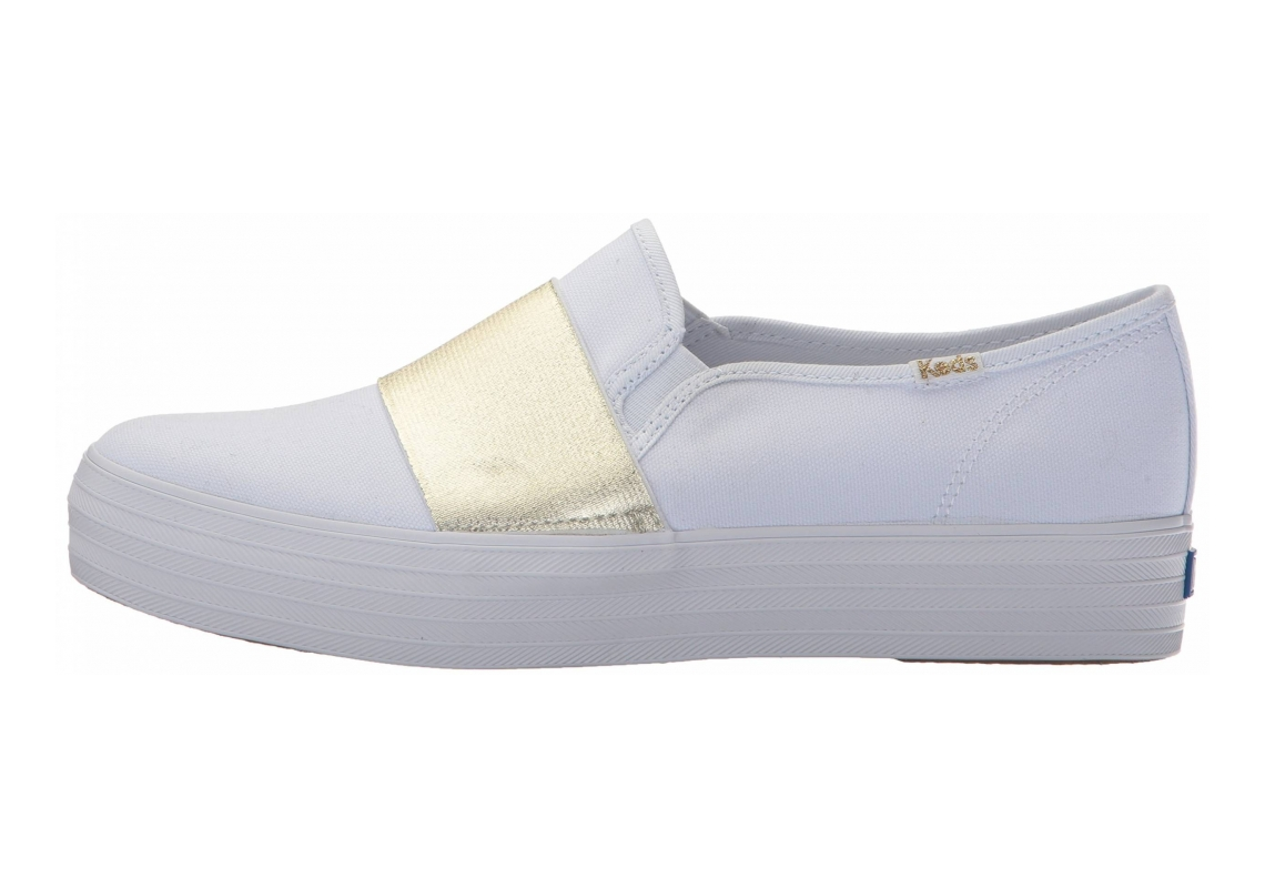 Keds Triple Bandeau Canvas White/Gold