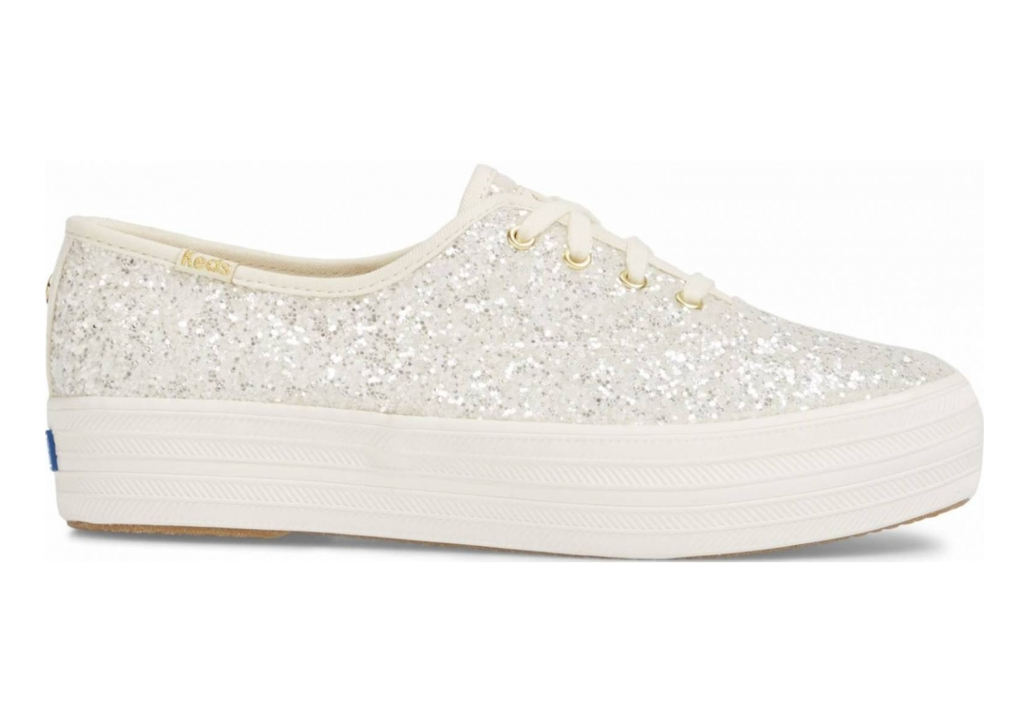 Keds x Kate Spade New York Triple Glitter Beige