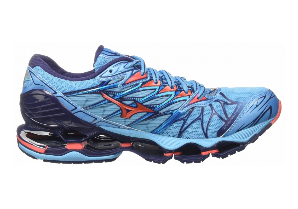 Mizuno Wave Prophecy 7 Multicolor (Aquarius/Hotcoral/Patriotblue 65)