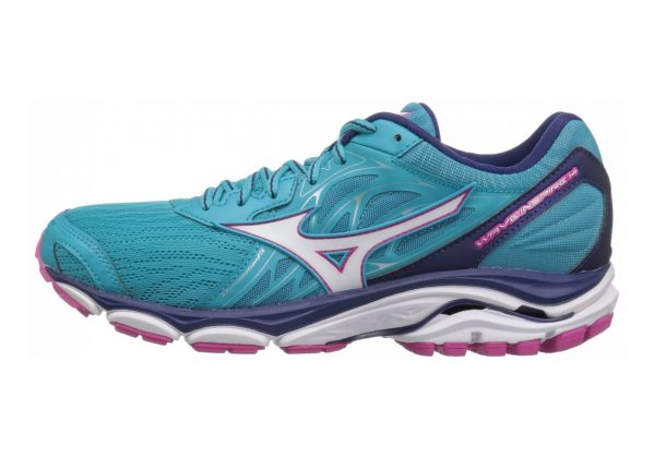 Mizuno Wave Inspire 14 Peacock Blue / White / Fuchsia Purple