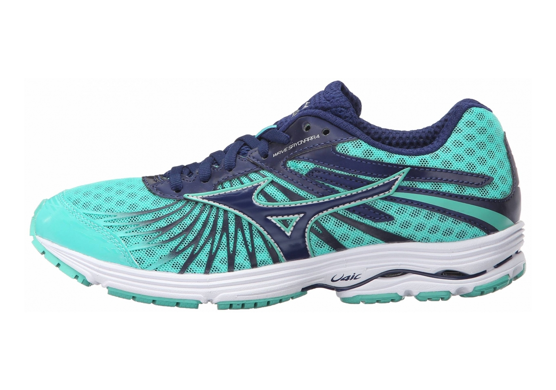 Mizuno Wave Sayonara 4 Blue Depths-electric Green