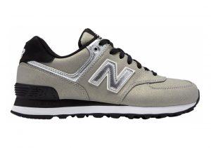 New Balance 574 Seasonal Shimmer Silver with Black