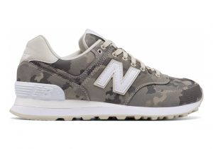New Balance 574 Camo Off White with White & Grey