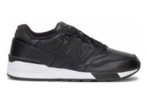New Balance 597 Leather Black