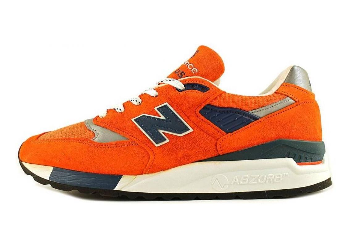 New Balance 998 Orange/Navy/White