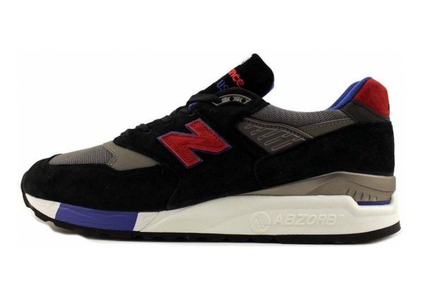 New Balance 998 Grey/Black/Blue/Red
