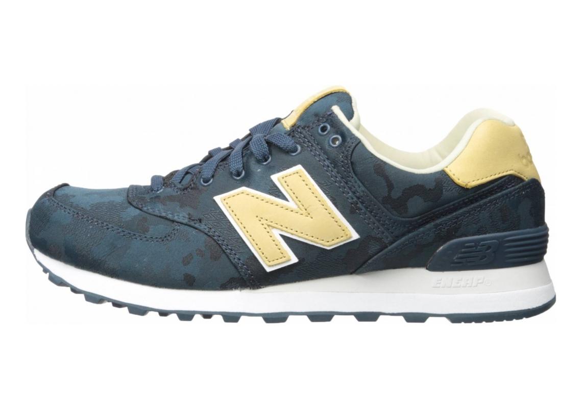 New Balance 574 Camo Blue with Tan