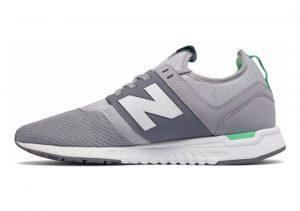 New Balance 247 Sport Silver Mink with Vivid Jade