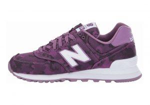 New Balance 574 Camo Kite Purple/White