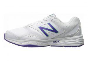 New Balance 824 Trainer White with Purple