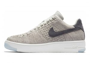 Nike Air Force 1 Flyknit Low Pale Grey/ Dark Grey/ White