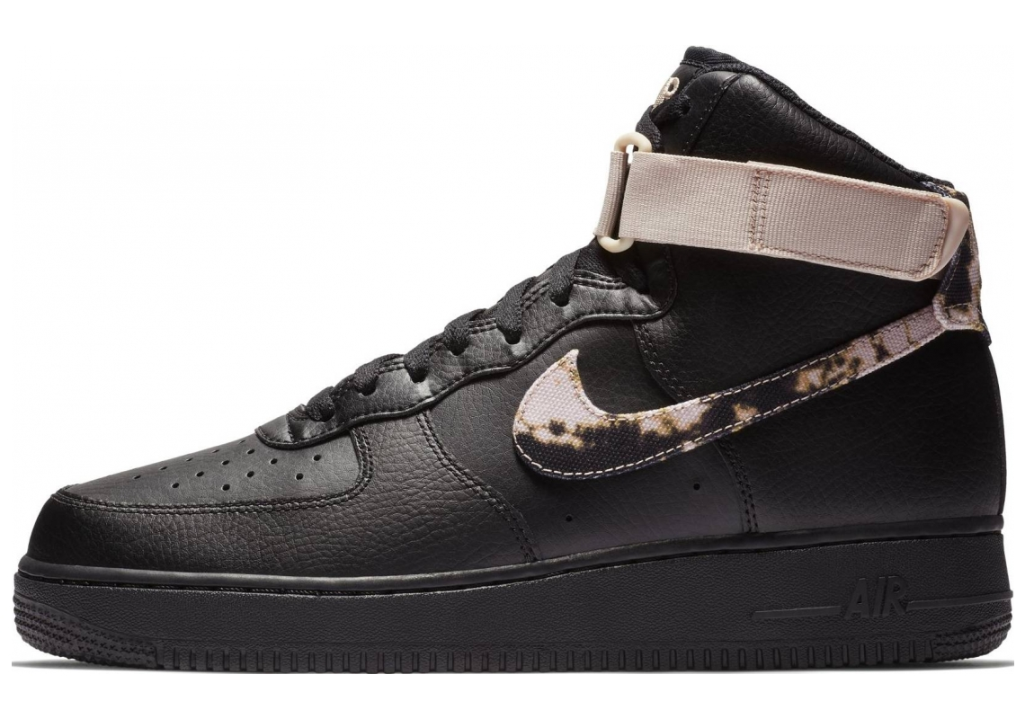 Nike Air Force 1 High Black/Particle Beige/Particle Beige