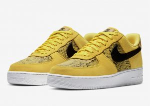 Nike Air Force 1 Low Yellow Snakeskin