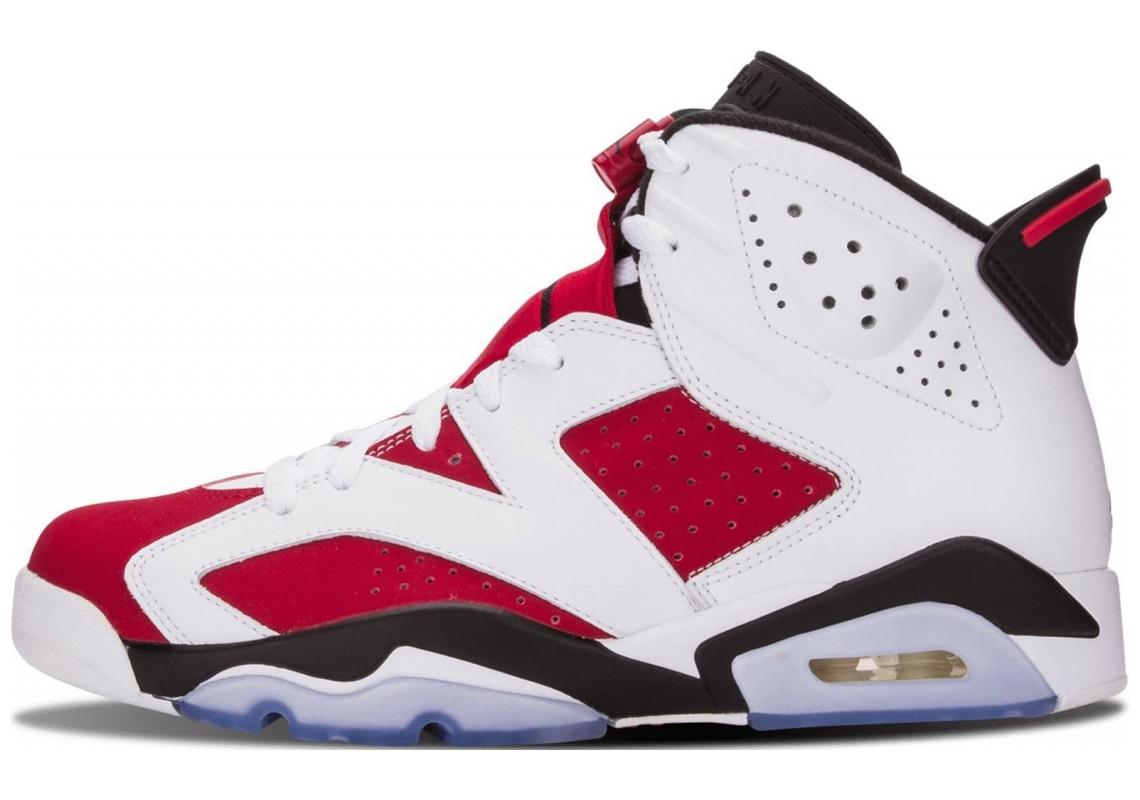 Air Jordan 6 White, Carmine-black