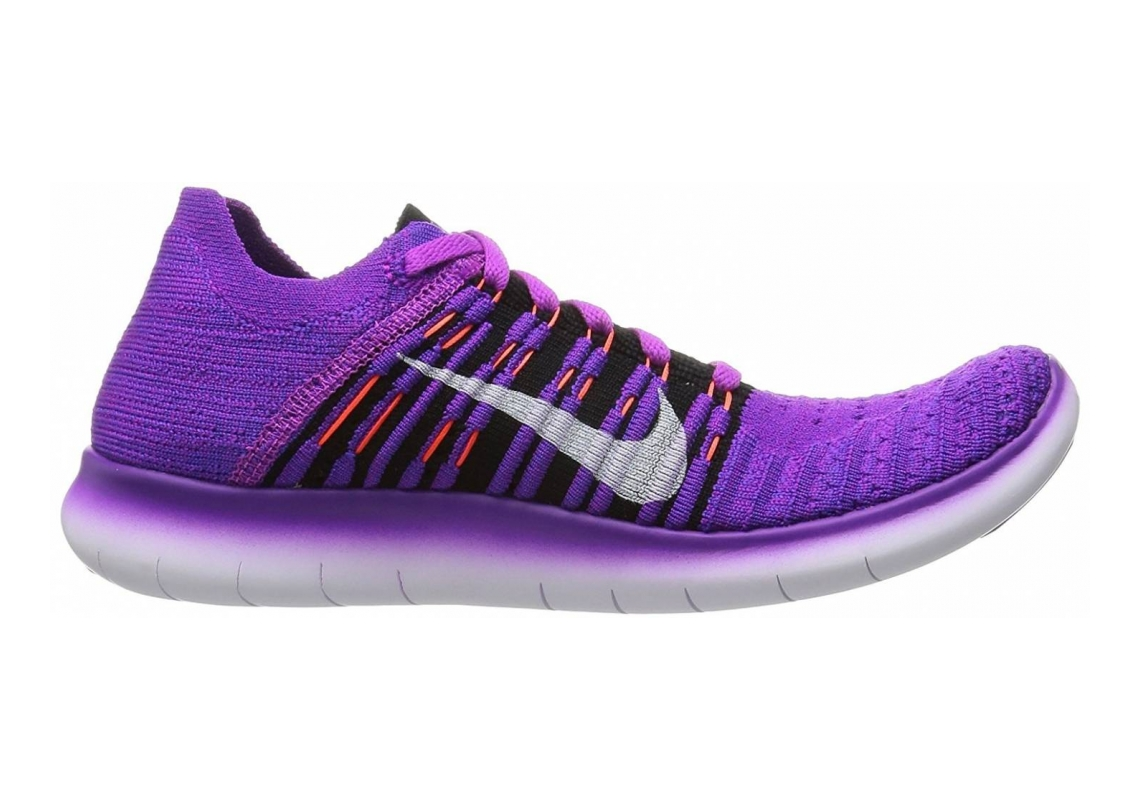 Nike Free RN Flyknit Azul (Hypr Vlt / Blk-ttl Crmsn-lsr Orn)