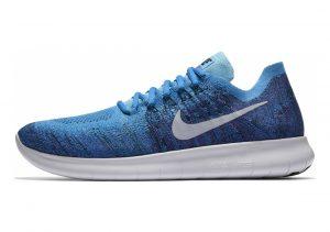 Nike Free RN Flyknit 2017 Blue Orbit/Pure Platinum-black
