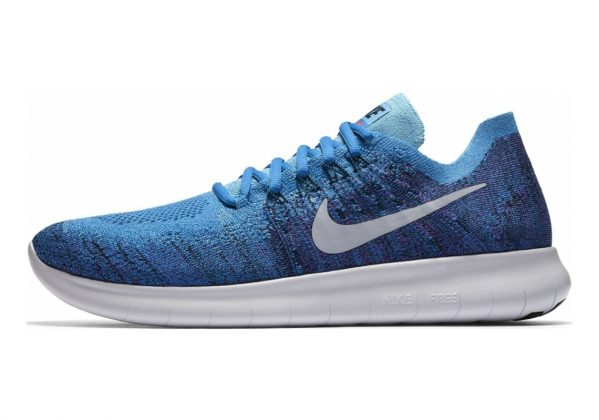 Nike Free RN Flyknit 2017 Blue Orbit/Pure Platinum-black