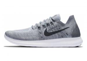 Nike Free RN Flyknit 2017 Grau (Wolf Grey / Black / Anthracite / Cool Grey 002)