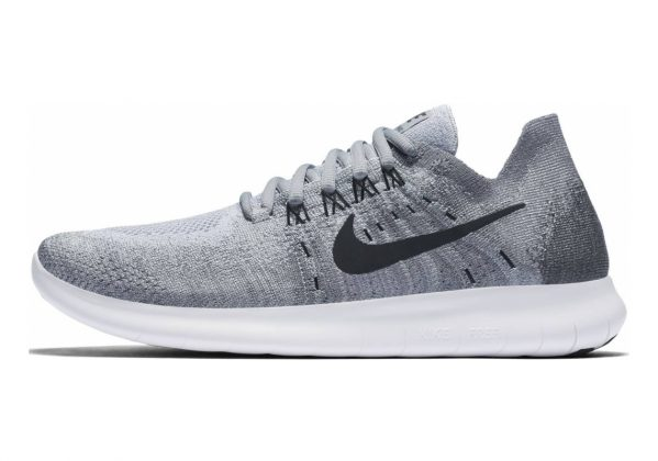Nike Free RN Flyknit 2017 Grau (Wolf Grey / Black / Anthracite / Cool Grey 002)