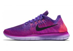 Nike Free RN Flyknit 2017 Mehrfarbig (Fire Pink / Black / Hyper Grape / Racer Pink 600)