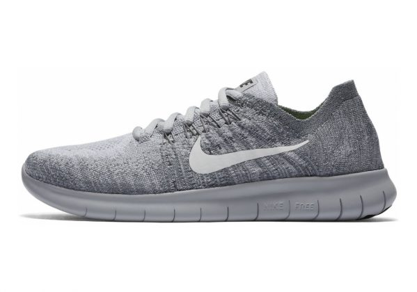 Nike Free RN Flyknit 2017 Wolf Grey/White-anthracite-cool Grey