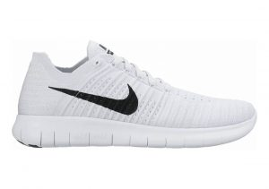 Nike Free RN Flyknit Bianco (White / Black-pure Platinum) (Nero, Platino)