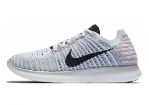 Nike Free RN Flyknit Grau (Wlf Gry/Black-brt Mng-pr Pltnm)