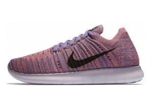 Nike Free RN Flyknit Pink (Prpl Erth/Blk-brt Mng-hypr Trq 504)
