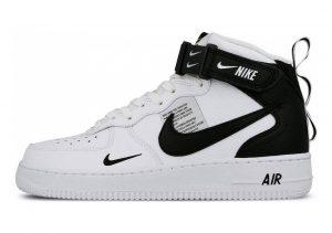 Nike Air Force 1 07 Mid LV8 Bianco (White/Black/Tour Yellow 103)