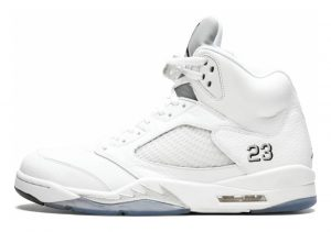 Air Jordan 5 Retro White, Black-metallic Silver