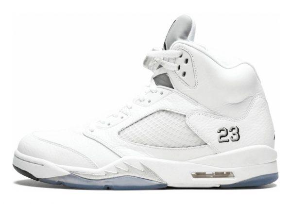 Air Jordan 5 Retro White, Black-metallic Silver
