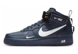 Nike Air Force 1 07 Mid LV8 Blau (Obsidian/White/Black/Tour Yellow 403)