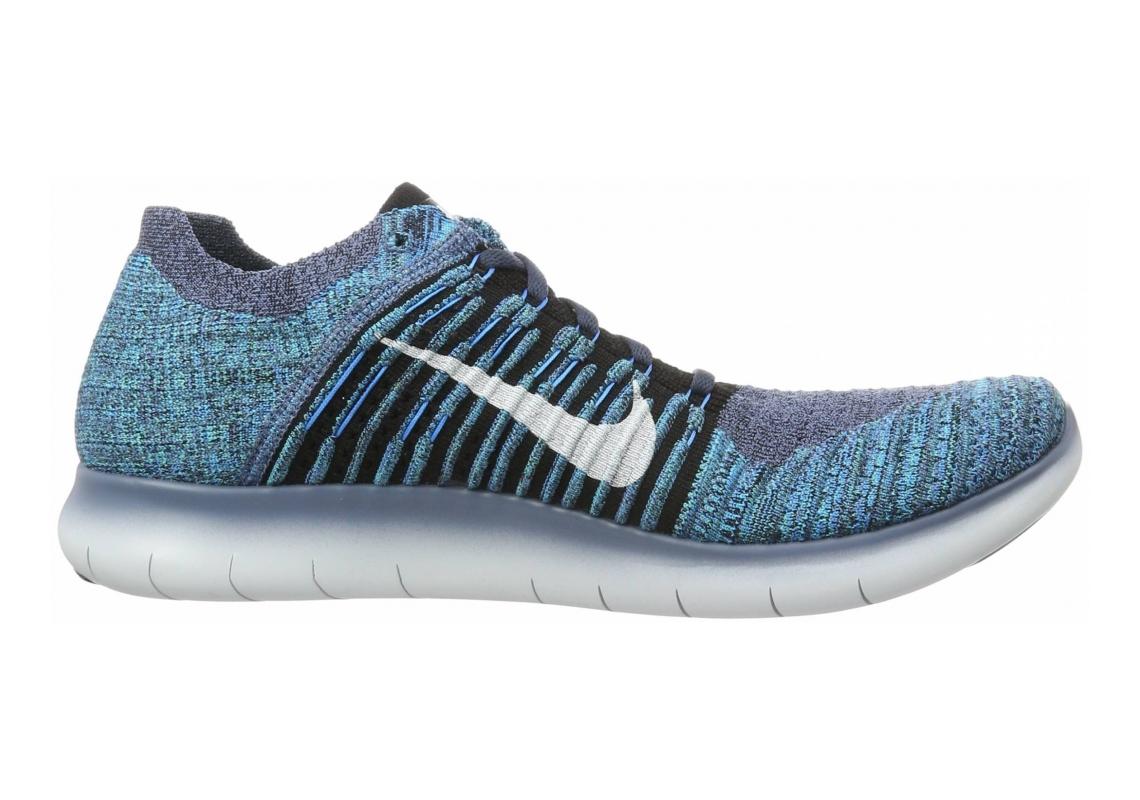 Nike Free RN Flyknit Ocean Fog/Black/Blue Glow/Hyper Jade
