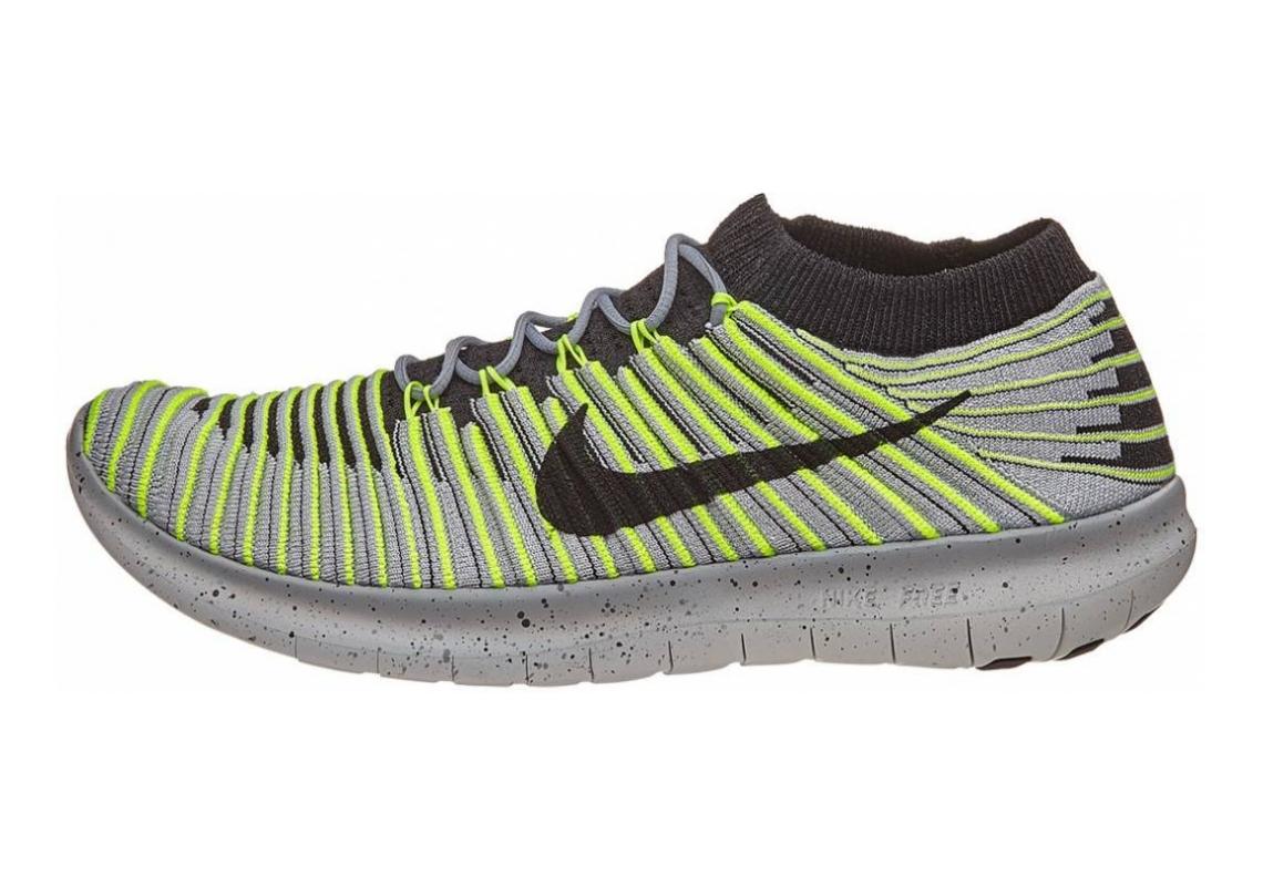 Nike Free RN Motion Flyknit Grau (Wolf Grey/Black Volt Cool Grey)