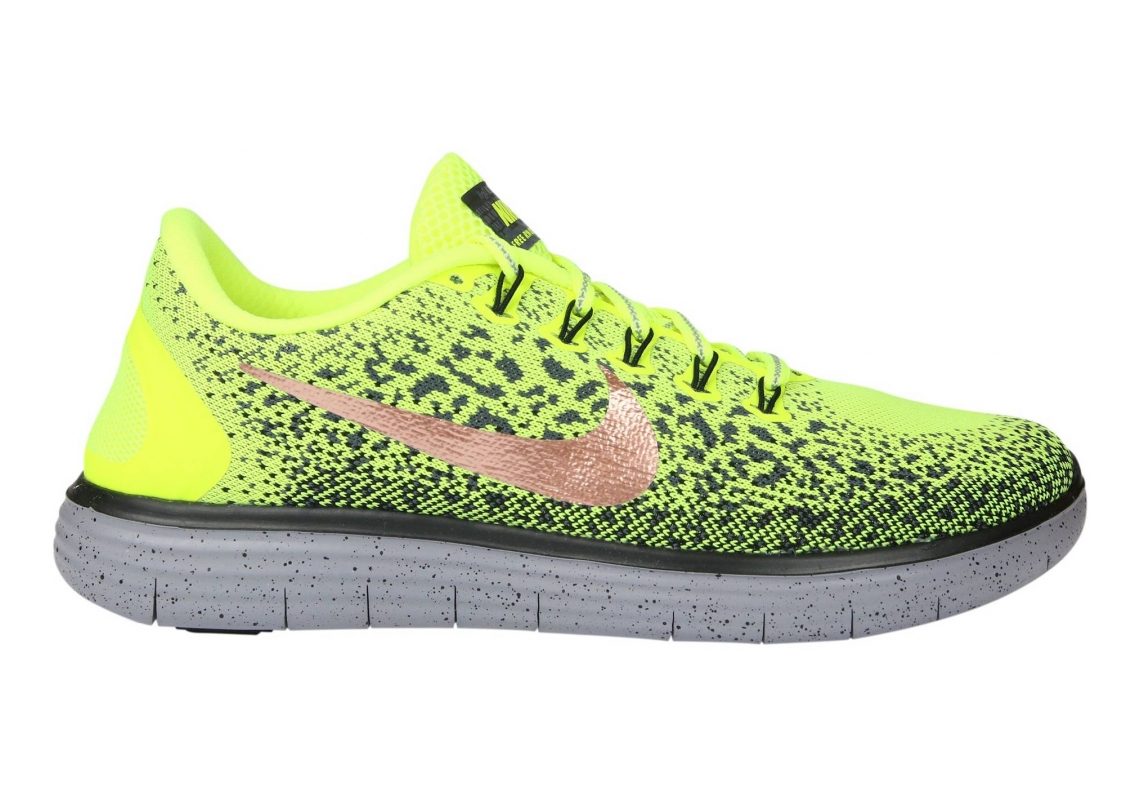 Nike Free RN Distance Shield Volt/Dark Grey/Black/Metallic Red Bronze