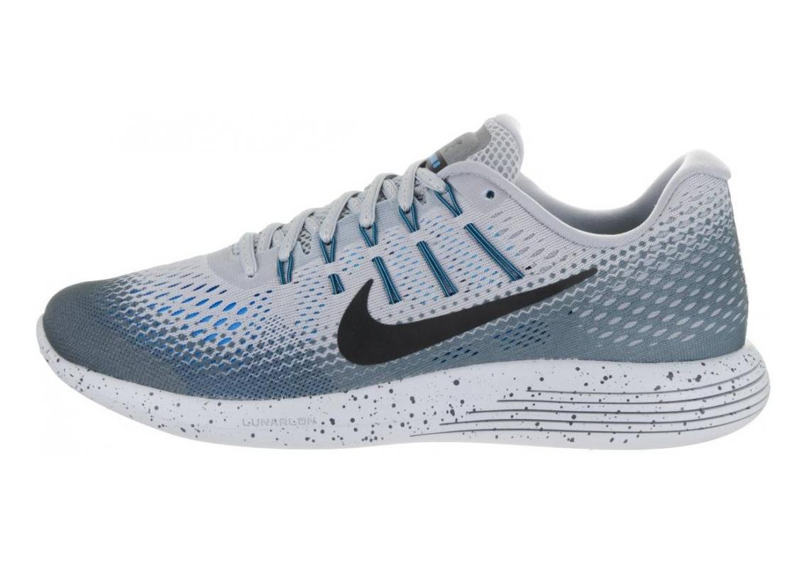 Nike LunarGlide 8 Shield Wolf Grey/Black-cool Grey-blue Glow