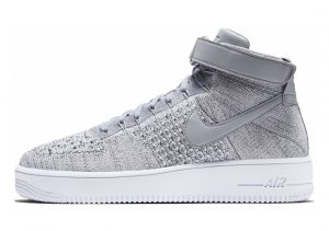 Nike Air Force 1 Ultra Flyknit Mid Wolf Grey / Wolf Grey-white
