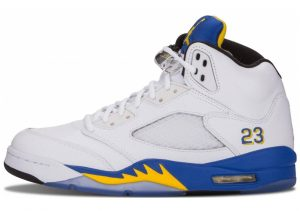 Air Jordan 5 Retro White, Varsity Maize-varsity Royal-black