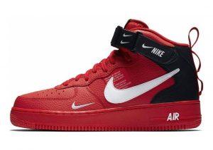 Nike Air Force 1 07 Mid LV8 Multicolour (University Red/White-black-tour Yellow 605)
