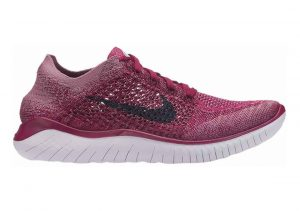 Nike Free RN Flyknit Raspberry Red / Blue Void / White