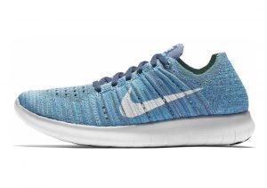 Nike Free RN Flyknit Ocean Fog/White-blue Glow
