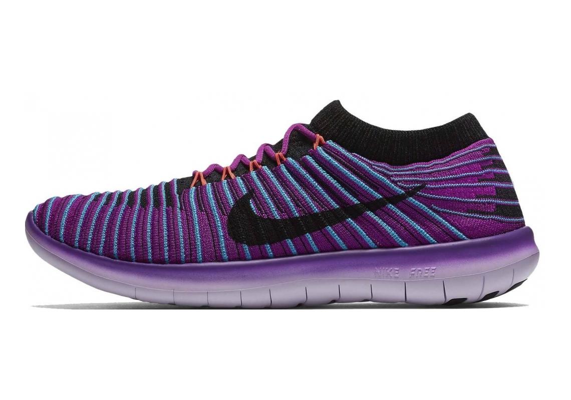 Nike Free RN Motion Flyknit Blue (Hypr Vlt / Black-gmm Bl-ttl Crmsn)