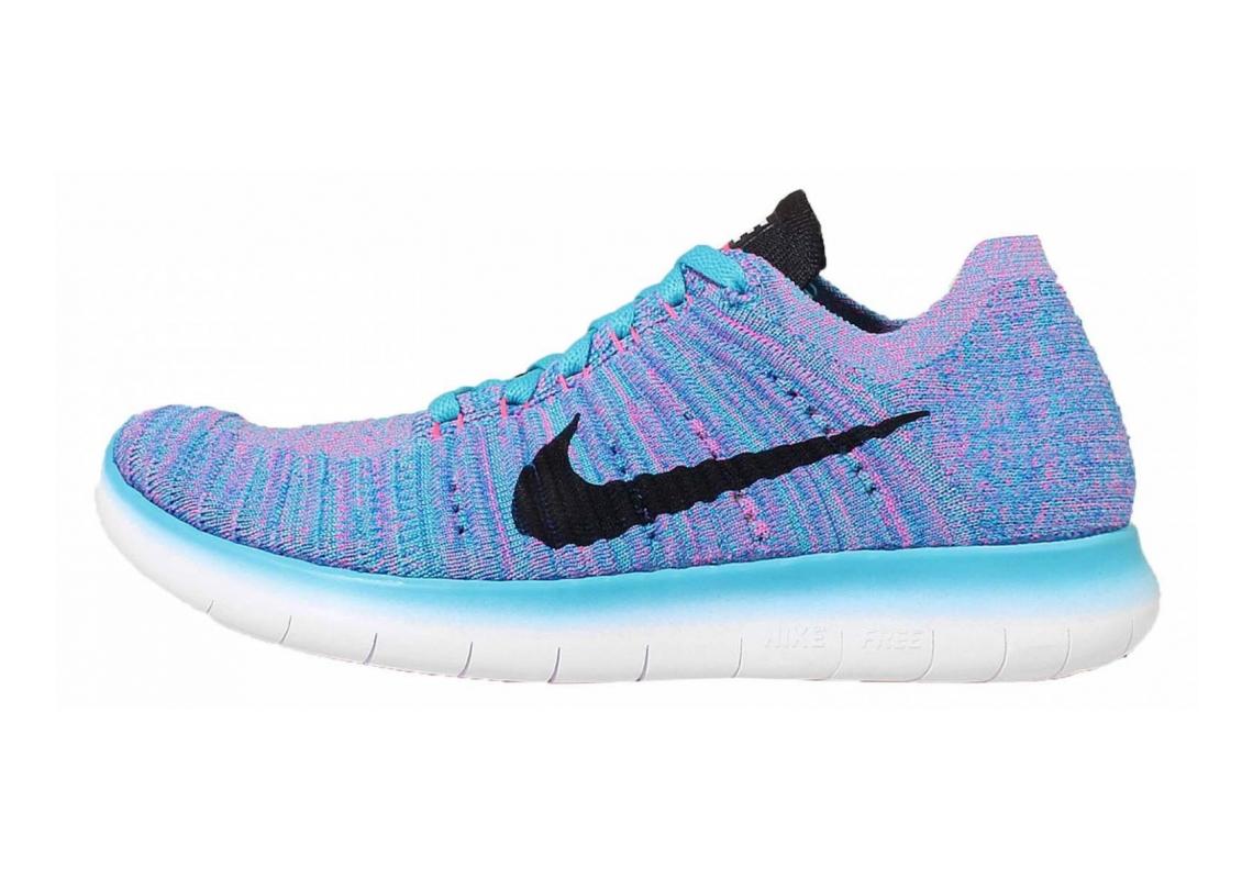 Nike Free RN Flyknit Azul (Gamma Blue / Blk-pht Bl-pnk Blst)