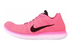 Nike Free RN Flyknit Rosa (Pnk Blst / Blk-lsr Orng-hypr Pnc)