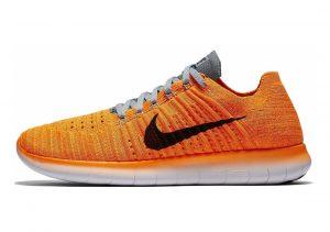 Nike Free RN Flyknit Orange (Lsr Orange / Blck-gmm Bl-cl Gry)