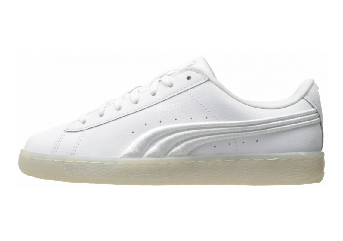 Puma Basket Classic Badge Iced White