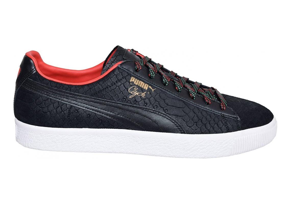 Puma Clyde GCC Black High Risk Red